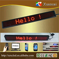 Hot! Promotion discount!P4.75-8x80(38x380mm) 1R Tube Chip Color and indoor Usage led programming sign display