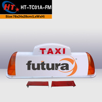 Orange auto car top led advertising lights