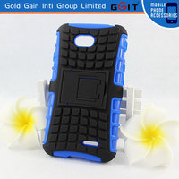 Popular Cool Hard TPU Combo Stand Case For LG L70 D325 Holster Combo Case