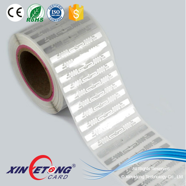 860-960MHZ UHF RFID Wet Inlay In Roll