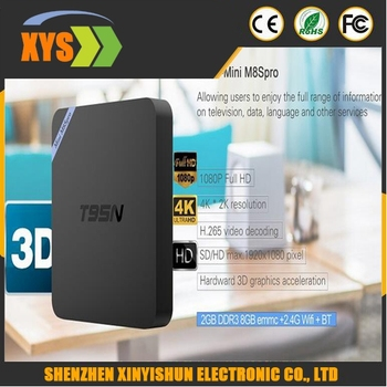 TV Box Android 5.1 Excelvan T95N Android5.1 Amlogic S905 2GB+8GB KODI 16.0 WIFI 4K2K 3D Fully Loaded Streaming Media Player