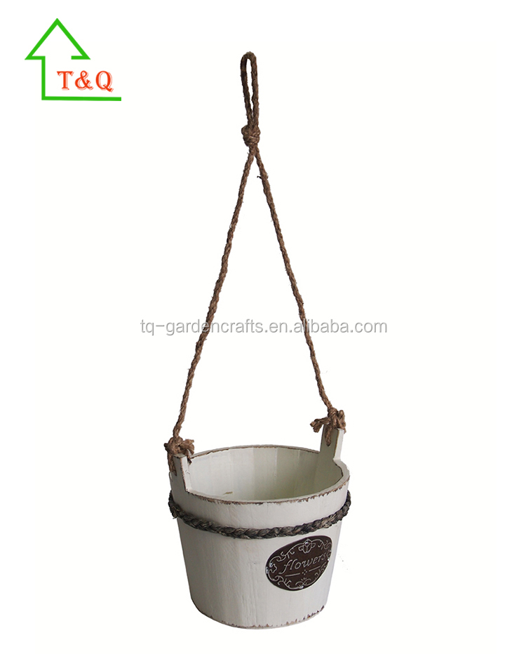 Hotselling Wooden Wall Flower Pot Hanging Planter