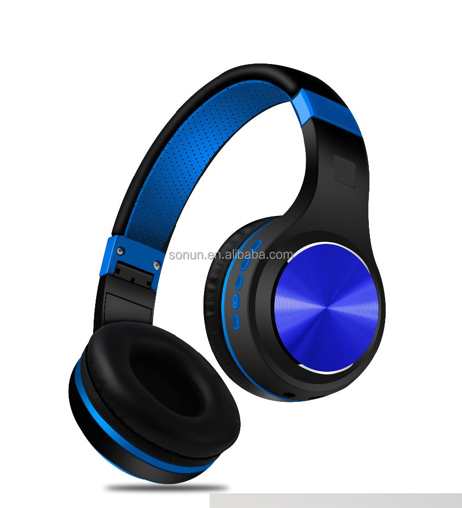 2017 China new electronics headset TF card and FM radio wireless bluetooth v4.0 bluetooth headset for IOS and Android