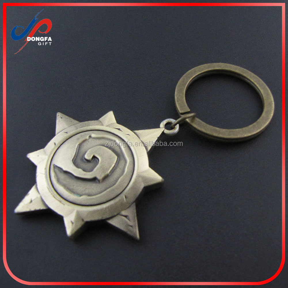Hot Game Series Latest Cool High Quality Fashion Key Chain Hearthstone Heroes of Warcraft Mark Antique