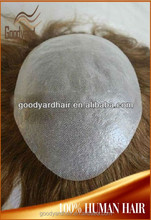 Wholesale Natural Hairline human hair Men Toupee Hairpiece