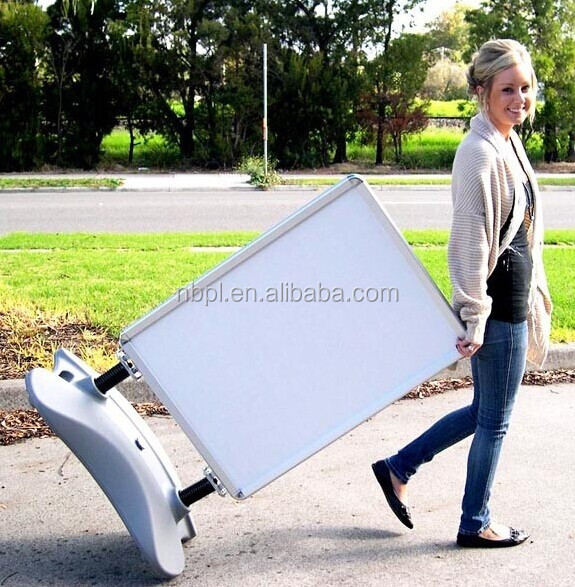 windmaster poster stand,moving advertising boards for walking road advertisement display