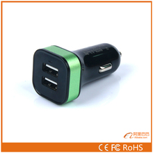 12v 2a output usb universal car charger 9 volt for iphone4 and samsung
