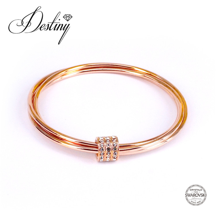 Destiny Jewellery 2017 fashionable bangle 18K gold plating Embellished with crystals from Swarovski Jewelry bracelet