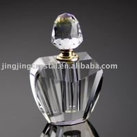 Clear Crystal Perfume Bottle Glass Empty Fragrance Bottle