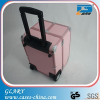 New arrival professional aluminum hairdresser tool trolley case