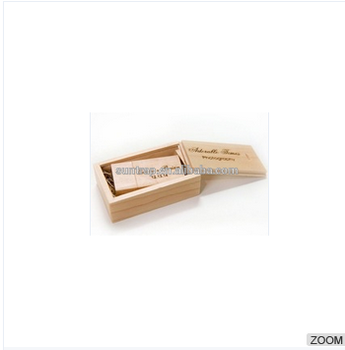 wooden usb flash drive and print box