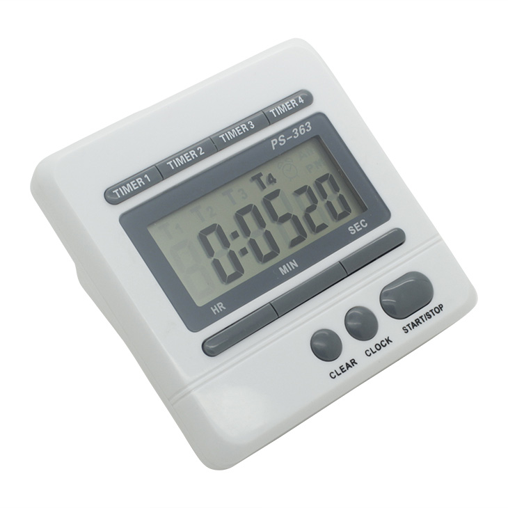 4 groups large LCD display small digital <strong>timer</strong> with high definition diaplay
