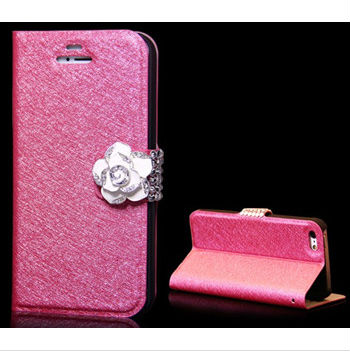 Clip Card Holders Diamond Bling Wallet Case Silk Pattern for iphone s3,s4,note 1,note 2,note 3