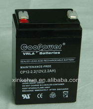Lead acid/AGM / VRLA / SLA / SMF Battery 12v 2.2ah