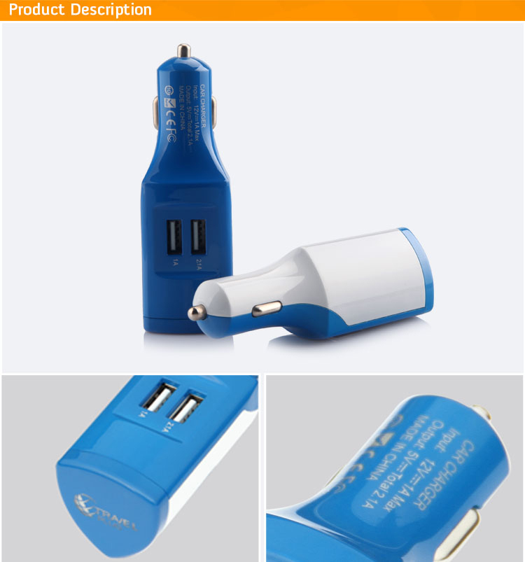 Wholesale 12V Wireless Promotional Micro Portable Dual Usb Car Charger