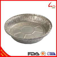 Takeaway 8 Inches Round Aluminum Foil Food Container With Paper Lid