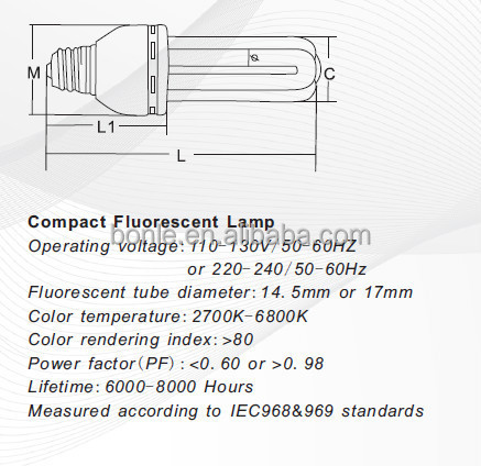 4U 45W 55W 65W 85W&105W Electronic engergy saving lamp