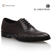 Coffee oxford shoes brand high class mens leather dress shoes