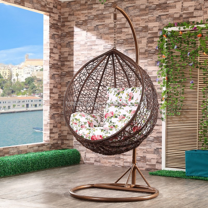 Designer Outdoor Rattan Hanging Chair For Sale