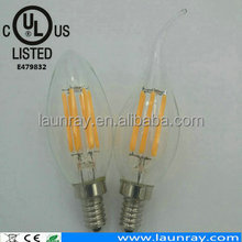 IP65 Swimming Pool Led Incandescent Filament Lamp Dimmable Candles Bulb with Dropshipping