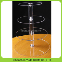 Wholesale individual box packing 3 4 5 6 7 tier acrylic cupcake stand plexiglass cake stand
