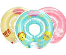Factory wholesale top quality INS hot selling Baby swim float multi color inflatable Baby neck float baby float neck ring