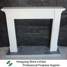 Pure White Micro Marble Fireplace