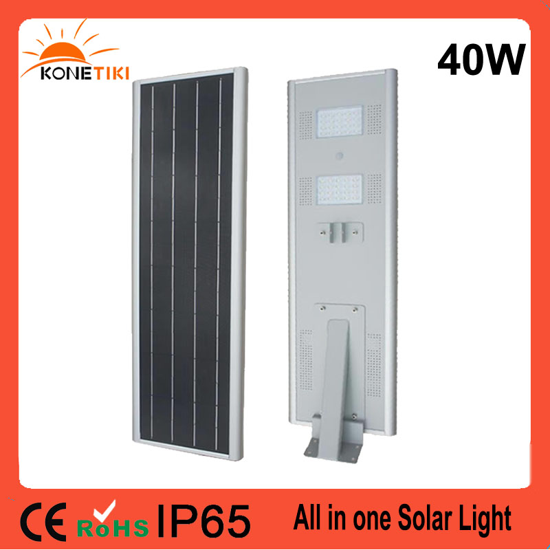 LED Light Source 15w 20w 30w 40w all in one integrated solar piers street light