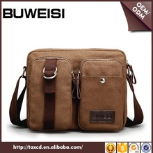 2016 canvas cross body college bags casual messenger bags for men