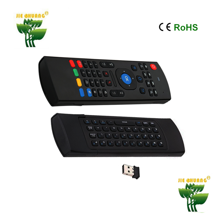 Top quality Portable 2.4G Wireless Remote Control Keyboard Controller Air Mouse for Smart TV Android TV box mini PC HTPC