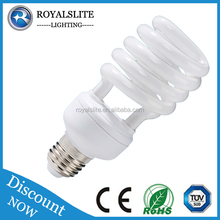 The Cheapest 12w 20w 32w 26w Half Spiral Compact fluorescent lamp high quality 8000 hours e27 e40 CFL Bulb Energy Saving Lamp