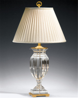special design trophy shape crystal table lamp with empire shade