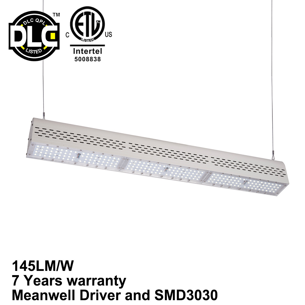 100W 150W 200W 300W 400W DLC ETL LED Linear High Bay Light LED Linear High Bay For Warehouse
