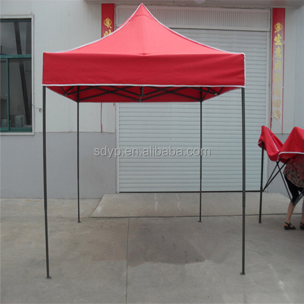 Half side wall red color steel frame 2x2 Folding Tent 2x2 Canopy Folding Tent