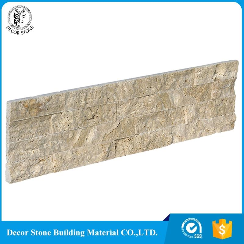 China manufacturer split face travertine stone veneer with best quality and low price
