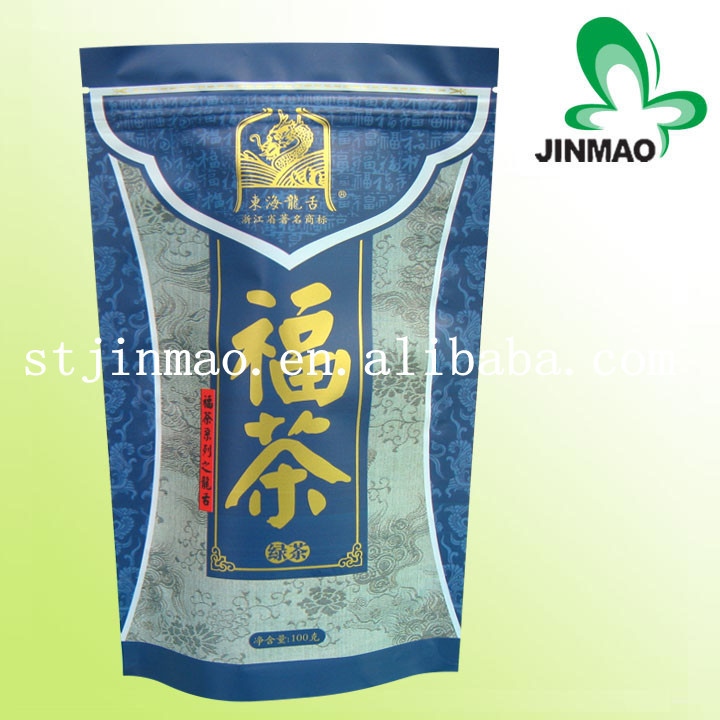 Tea plastic standing package with zipper