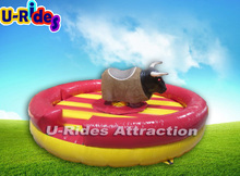 Inflatable Hard Head Mechanical Black Bull Game Spanish Bull Riding Games