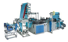 Automatic rope type garbage trash bag plastic bag making machine