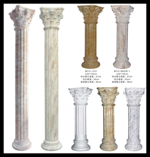 Home &Wedding Stage Decoration White FRP Resin Fiberglass Roman Column