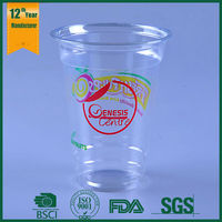 camping cup,12oz plastic printed cups,food grade printed pet disposable large plastic drinking cup