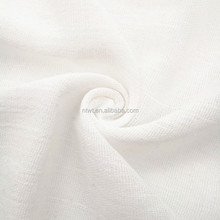 Wholesale high quality 100% cotton white crepe textile fabric stock lot