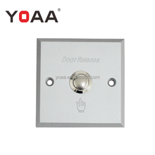 Aluminum alloy access control exit button push button