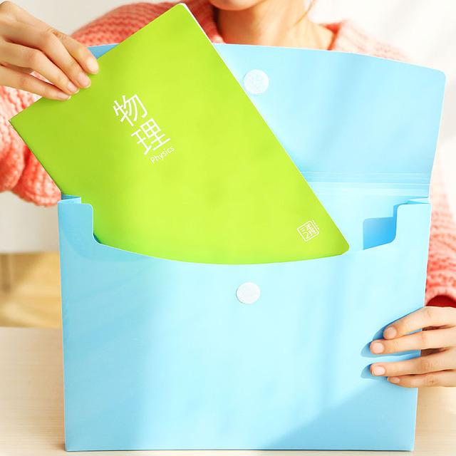 New Korea Creative Cute Smile Face Folder Candy Color Paper Bag Wholesale