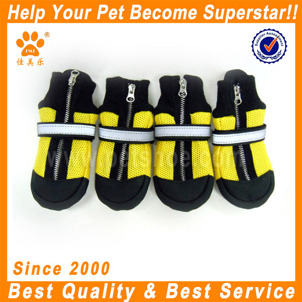 JML outdoor durable yellow pet shoe socks for dogs cats