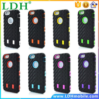 Coque For iPhone 5 Case Tire Dual Layer Defender Case For iphone 5s Hard Plastic 3 in 1 Heavy Duty Armor Hybrid Phone Cover