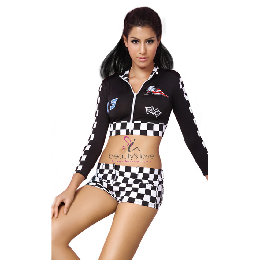 Plus Size XXL Women Sexy Halloween Costumes Sexy Racer Girl Role Play Costume Sex Club Wear Valentine's Day Gift Sexy Lingerie