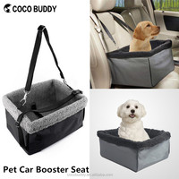 2016 Alibaba Top Sale Fleece Padded waterproof oxford cloth Pet Dog Luxury Car Booster Seat in factory price