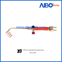 British gas welding torch with 5 tips