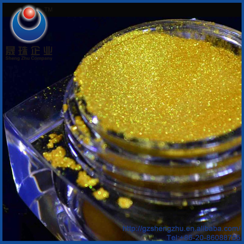 Diamond gold glass flake luster pearl effect pigment