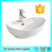 ceramic washing oval shape wash basin